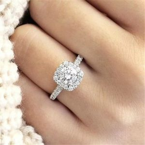 Jewelry - WGF Halo Cushion Cut White Sapphire Ring